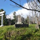 本郭の南側に立つ城碑