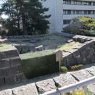 石垣の沈んだ天守台