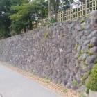 下茶屋公園の東面の塁壁