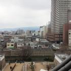 西側の眺め。寺町。鯱の顔カワユス。