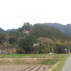 黒田城跡全景。