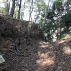 林道から最初の大堀切