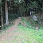 本曲輪へ繋がる土橋