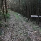 その虎口から曲輪沿いの道、結界石へ