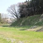 3曲輪岩館西側土塁と水堀