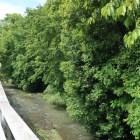 天然の堀となる中津川