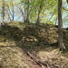 本丸裏門外の石垣。会津蒲生領時代のもの