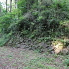 御前曲輪西側の石垣