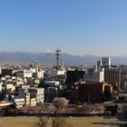 南東の景色。富士山が見えます。