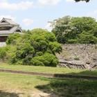 西出丸戌亥櫓側石垣崩壊