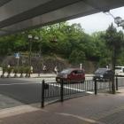陸橋下から有岡城の石垣