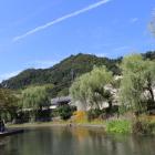 八幡山城と八幡堀