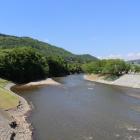 城の西を流れる馬淵川