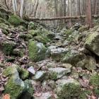 岩ゴロゴロの登城路