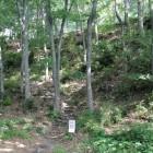 3郭から2郭の切岸、登城路