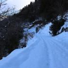 城までのワイルドな雪道
