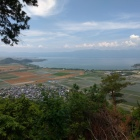 山上からの琵琶湖の風景