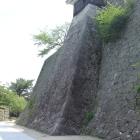 隠門、続櫓下の高石垣