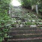 登城危険な石段、本丸直下