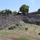 本丸北東側石垣の孕み