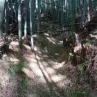 妙見社から搦め手の登城道