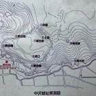 中沢城址実測図(シンプルな縄張りです)