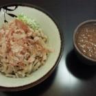 『三井屋』のおろしそば。太麺と細麺が選べます。