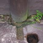 東門跡礎石の柱穴。加工が細かい!
