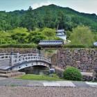 下の曲輪石垣・西隅櫓・登城橋・登城門(北側)
