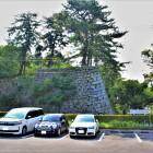 丑寅三重櫓跡(東側)  お城駐車場より。古写真と同じ方向から撮影