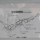 甘崎城発掘測定図(木浦城天守資料展示による)