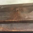 昭和の修理の際に朽ちた節に埋木を施した