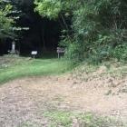 赤松祐尚の墓(その先が登城口)