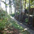 芭蕉の館の裏手にある堀底道