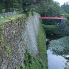 茶壷櫓跡より廊下橋を望む