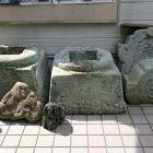 敦賀城表門礎石(八幡神社内敦賀郷土博物館前)