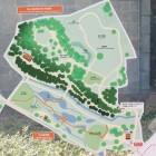 水生植物園、深大寺城案内図
