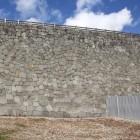 修復復元されて本丸南面高石垣、円の描きも