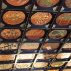 拝殿格天井の天井図