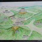 水城館の資料、大宰府防衛施設説明図