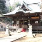 本丸北東下段曲輪に建つ住吉神社