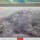 櫓内展示岡豊城俯瞰図案内