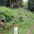 搦手口にある登り石垣