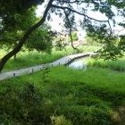 湿地は推定かつての水堀跡