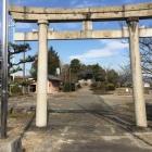 城址標柱@八幡神社鳥居前