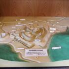 館内の岩崎城模型