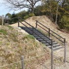 本丸土塁登り階段