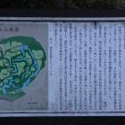 南側の登城口に在る案内解説板