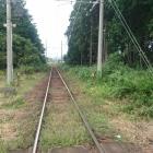 近江鉄道が城跡を貫く