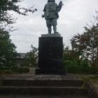 日野市街の蒲生氏郷像